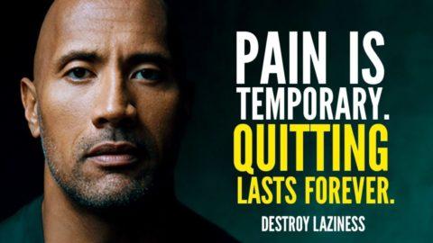 Pain Is Temporary (La douleur est temporaire)