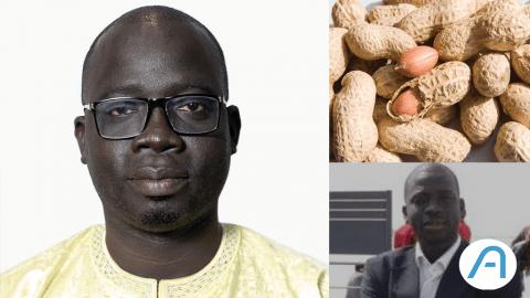 Balla Diop Ngom, l'entrepreneur qui transforme les coquilles d'arachide en énergie.