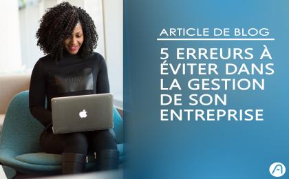 5 erreurs à éviter dans la gestion entreprise - image femme